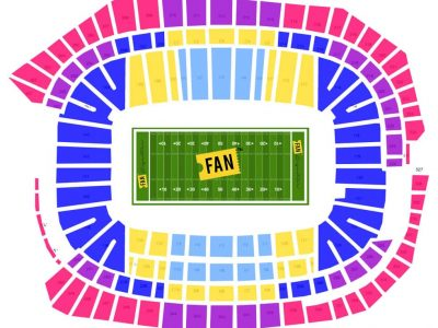 super bowl package seating chart